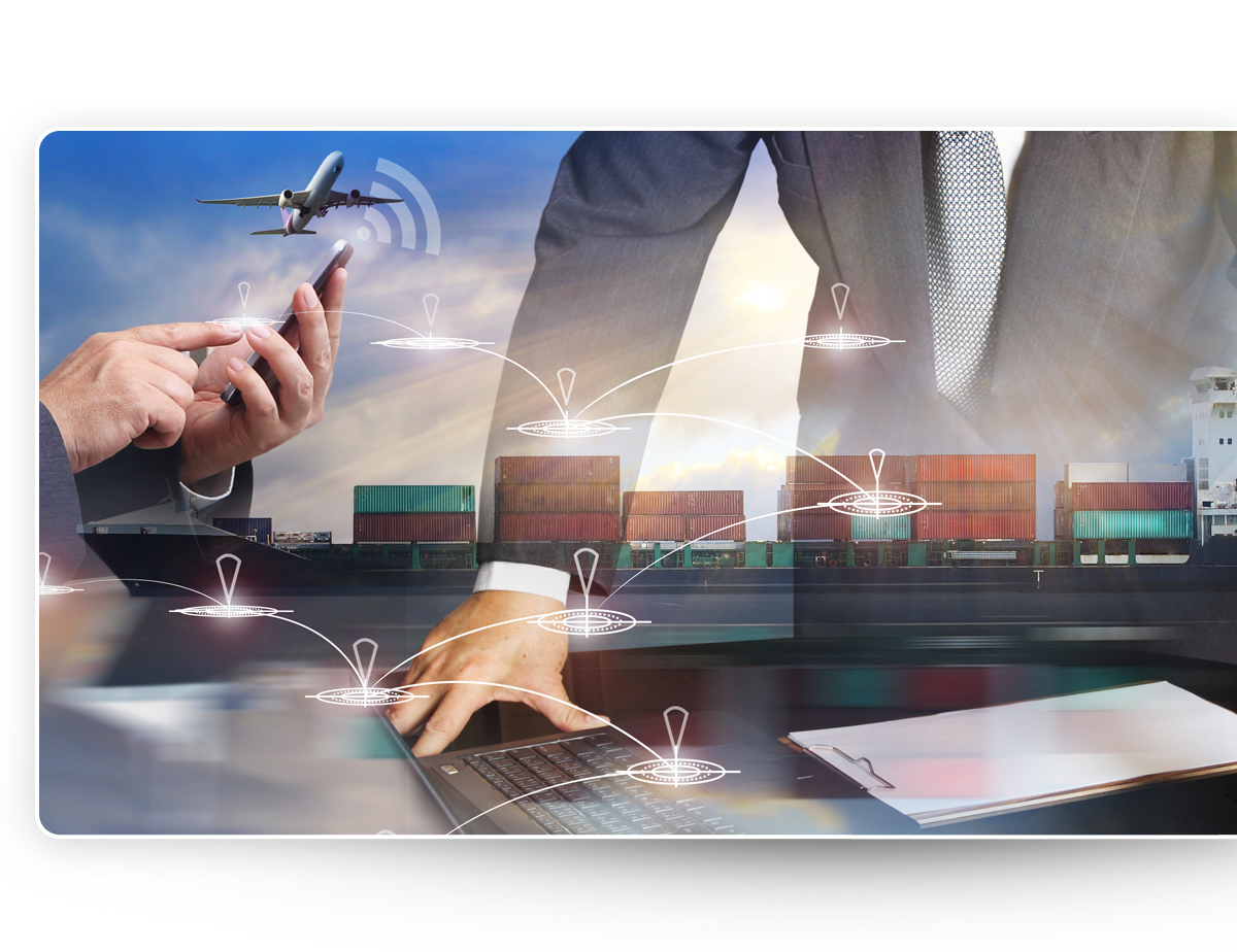 Delivery strategy Man airplane and shipping checkpoints - Newegg Logistics