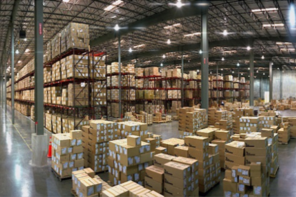Shot of warehouse inventory Newegg Logistics