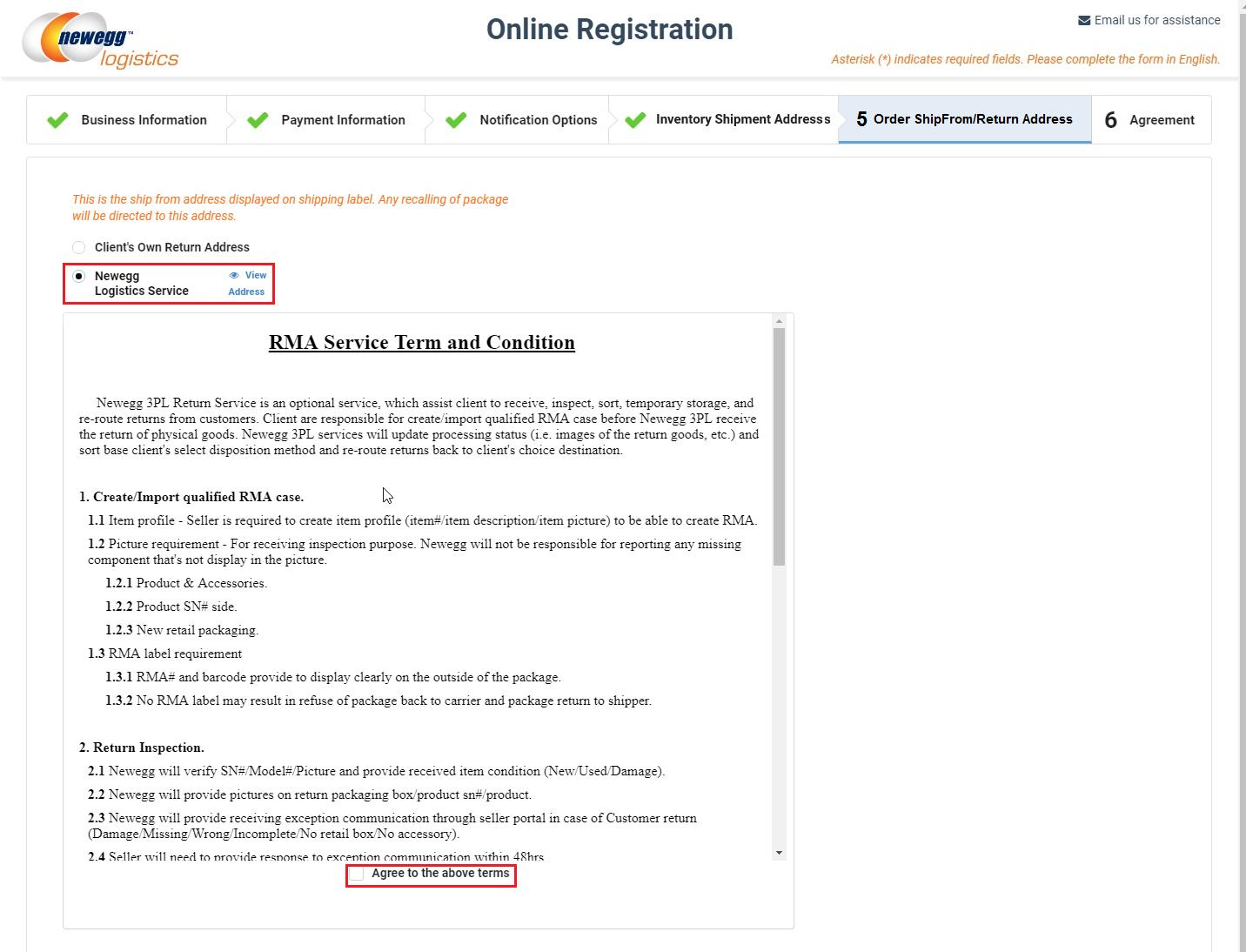 How to register - Newegg Logistics Knowledge Base